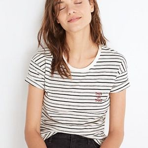 Madewell embroidered this or that whisper cotton